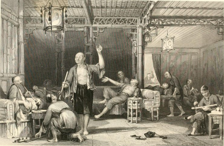O tráfico de ópio pela família real inglesa